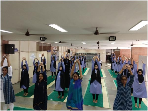 Elementary to advanced asanas conducted