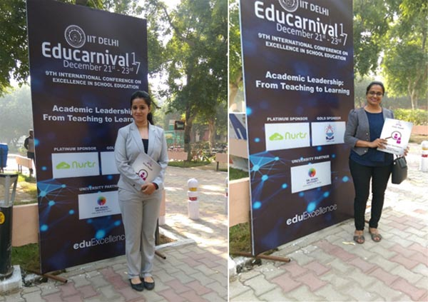 Dr. Vakharia and Mrs. Pooja at IIT Delhi, Educarnival, the 9th International Conference for School Leaders & Teachers