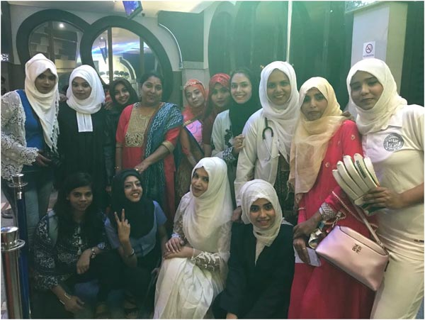 Fashion Show participants along with faculty in-charge Dr. Asha of RCOED. Theme was Panchtatva and emphasis was on Professions based on 5 Elements highlighting the point of Religion doesn't define the skill, elements do!
