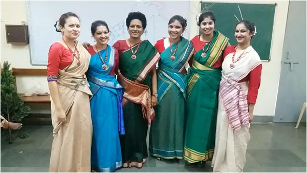 Group replicating the culture of East India