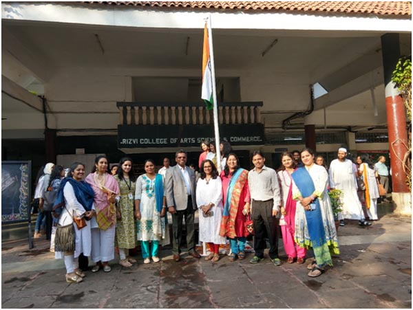 Flag Hoisting at Rizvi Education Complex