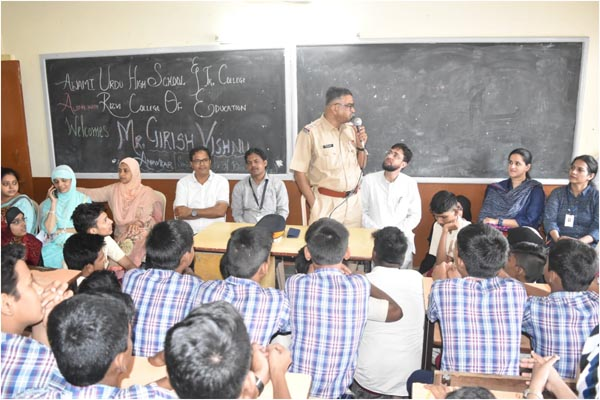 Motivational talk by Senior Inspector, Mr. Girish Vishnu