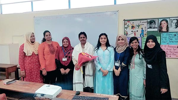 Dr. Arya with the members of the Student Council of S.Y.B.Ed of RCoEd